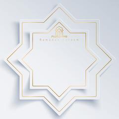 Islamic vector design for greeting card of Ramadan Kareem