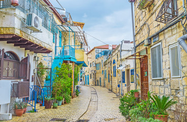 The winding street of Safed