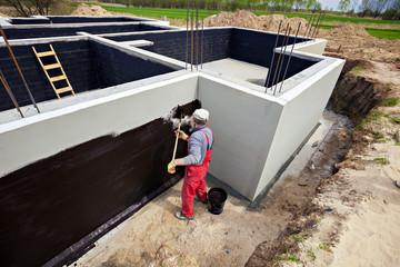 Waterproofing foundation building