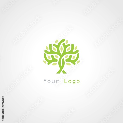 """green tree plant abstract logo"" Stock image and royalty ..."