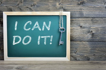 I can do it text on school board