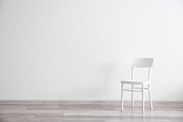 White chair in light room interior Fototapete