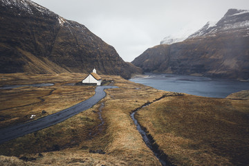 Faroe Islands Isolated Church