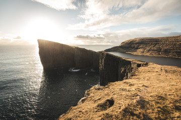 Faroe Islands The edge of the Cliff