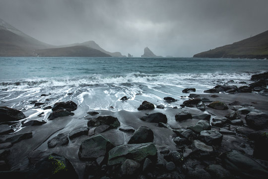Faroe Islands Rocky Beach