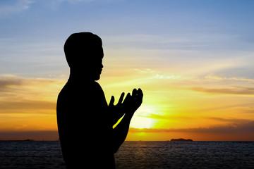 the man praying