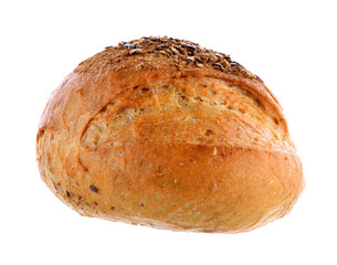 Traditional bread on white background