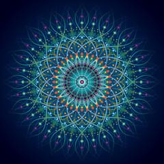 mandala pattern circle geometric ornament background