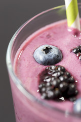 Blueberry and blackberry smoothie