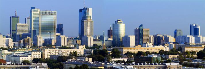 Panorama nowoczesnej Warszawy