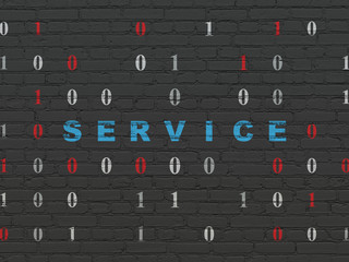 Business concept: Service on wall background