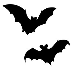 Silhouette of Halloween bat, vector