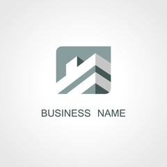 square building business vector logo