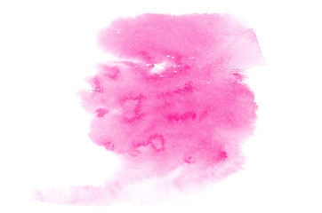 Pink brush stroke isolated on background