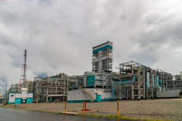 Tobolsk, Russia - July 15. 2016: Sibur company. LLC Tobolsk-Polimer the entity, largest in Russia, on polypropylene production enters into the three of world productions of this segment