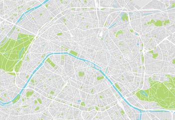 Paris city map Fototapete