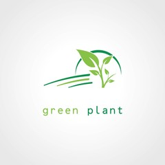 green tree plant logo