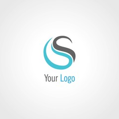 round letter S abstract logo