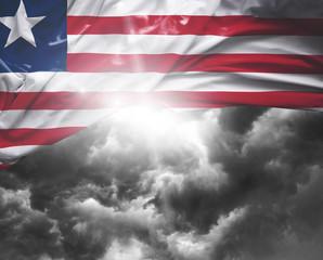 Liberia flag on a bad day