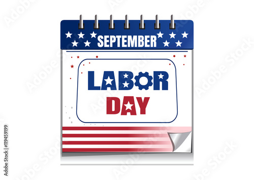 Calendar Labor Day : Quot labor day calendar painted in the colors of