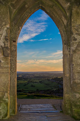 Views of Somerset from Glastonbury Tor monument
