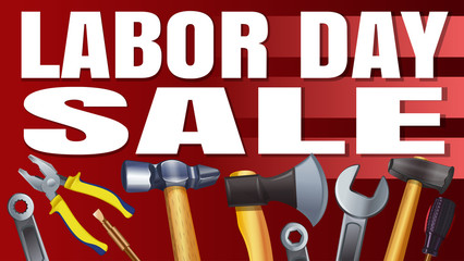 Labor Day Sale. Banner