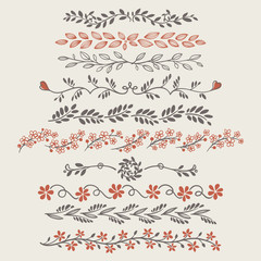 Fancy Doodle Floral Borders and Dividers