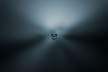 Spooky halloween background with skull
