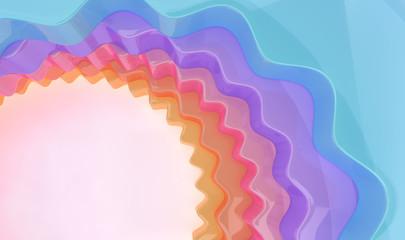 Fotobehang - abstract circle pastel color