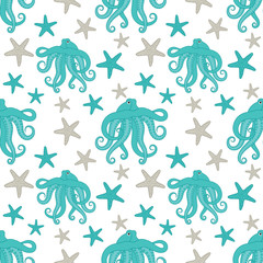 Octopus Seamless Pattern
