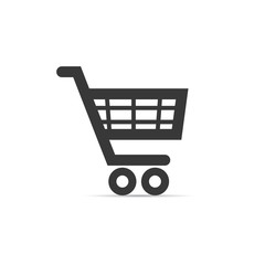 Pushcart minimalistic icon. Supermarket cart sign. Vector isolated object.
