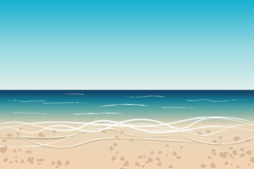 Seaside view on tropical summer beach, travel background