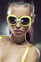 Beautiful model in sunglasses