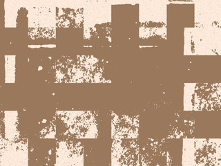 Abstract grunge vector background. Monochrome  composition of irregular graphic elements. Created using hand made camera=less photographic print.