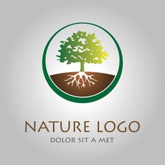 tree organic nature logo icon