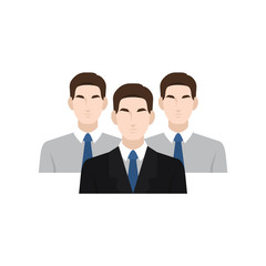 Human resource and recruitment icon. Employment - recruitment team work together to get the best for the company. Vector illustration.