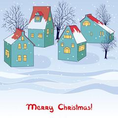 Vector winter card.