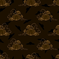 Vector pumpkin wallpaper.