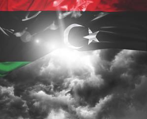 Libya flag on a bad day