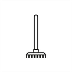 Rake Icon icon on white background