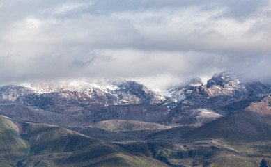 beautiful mountains in Kyrgyzstan
