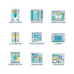 Web Design Linear Symbols
