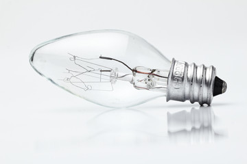 Electric lamp on a white background./Electric lamp on a white background.