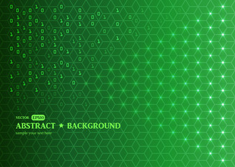 Abstract digital green background. Programming / Coding / Hacker concept / Technology. Vector EPS10