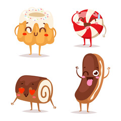 Sweet emotion vector character