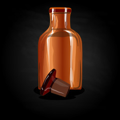 chemical glass bottle vintage
