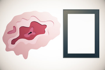 Abstract brain and frame