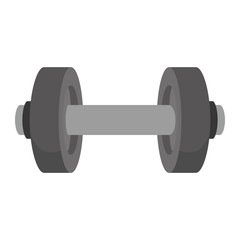 dumbbell weights gym equipment fitness lifestyle silhouette vector illustration
