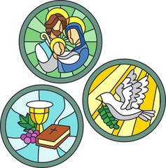 Stained Glass Christian Images