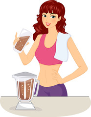 Girl Chocolate Protein Shake